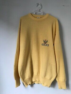 GUCCI VINTAGE YELLOW KNITTED SWEATER