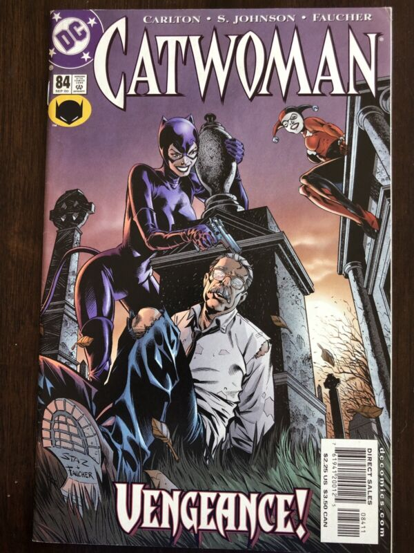 CATWOMAN 84 Great Harley Quinn and Catwoman cover VF