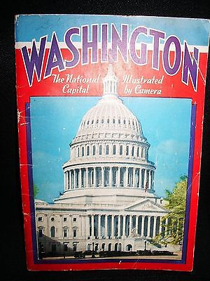 1938 Washington The National Capital Illustrated by Camera Tourist Book