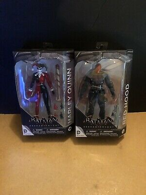 Harley Quinn Arkham Knight (DC Collectibles Batman Arkham Knight Red Hood and Harley Quinn Lot of 2 Sealed)