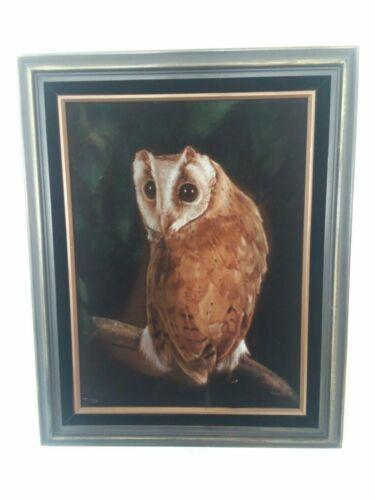 Ralph Burke Tyree Velvet Painting Bay Owl/Thialand 1977 - $999.99