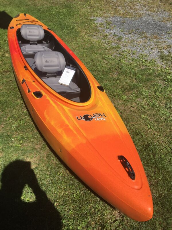 Old Town Heron Tandem Kayak With Rod Holders,paddle Park And Removable Seat