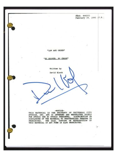 Dick Wolf Signed Autographed LAW & ORDER By Hooker By Crook Episode Script COA