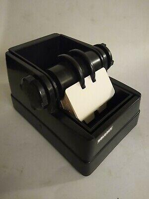 Vintage Roladex Rotating Card File Black Plastic