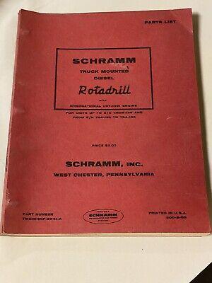 Vintage Schramm Rotadrill Oil Water Well Drill Rig Parts List Truck Mounted Tmrd