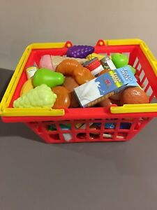 Play food with basket