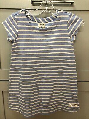Joules Girls Dress Size 5-6 GUC Blue White