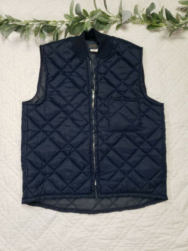 Oshkosh Vintage Blue Puffer Vest Size M Made In USA