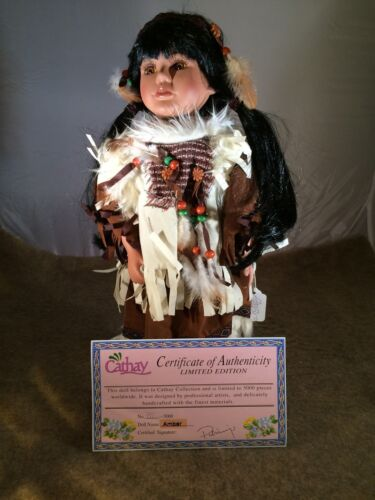 Porcelain Collectable Native American Doll