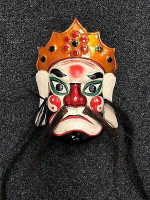Mask Wooden Painted - Japon- Theatre No - Demon Gigaku Beshimi O-Edo