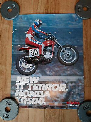 VTG 1979 HONDA XR500 TT MOTORCYCLE ADVERTISEMENT POSTER