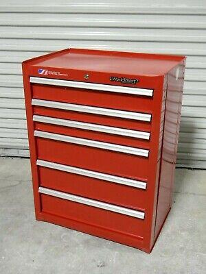 Worksmart Tool Box Roller Cabinet 6 Drawer 41 X 26 X 18 Steel Red