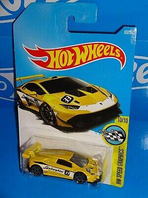 Hot Wheels 2017 Speed Graphics Lamborghini Huracan LP 620-2 Super Trofeo Yellow