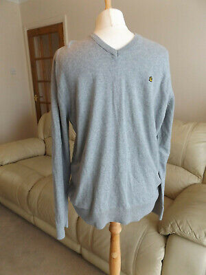 Admiral Grey Long Sleeve Jumper (Cotton with Cashmere) Size M