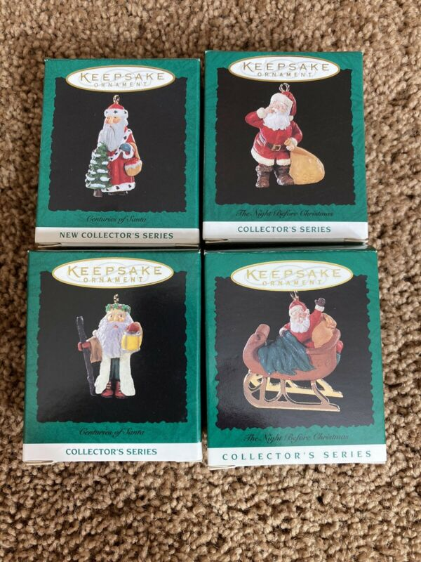 Hallmark: THE NIGHT BEFORE CHRISTMAS Series - #1, 3. 4, & 5 Miniature -