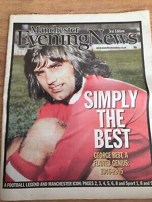 George Best Obituary Front Page Man United Newspapers Evening News