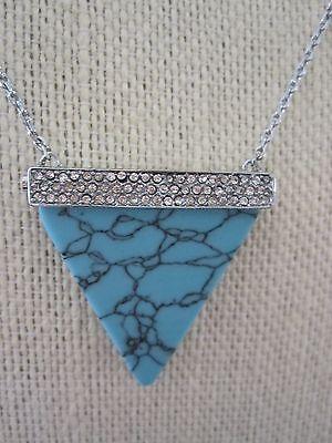 NWT Michael Kors Pave Faux Turquoise Brilliance Statement Necklace- $165