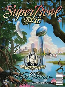 New Super Bowl 31 XXXI 1997 Program Green Bay Packers New England Patriots 1996