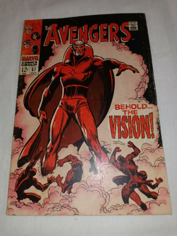 RARE 1968 Avengers #57 ~1ST VISION ~ 4.0+ NICE RAW COPY ~WANDAVISION