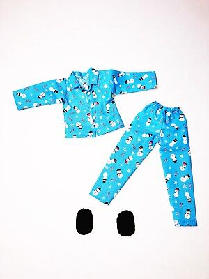 Christmas Elf Clothes Blue Snowman Pajamas Lot With Shoes New For On The Shelf](Clothes For The Elf On The Shelf)