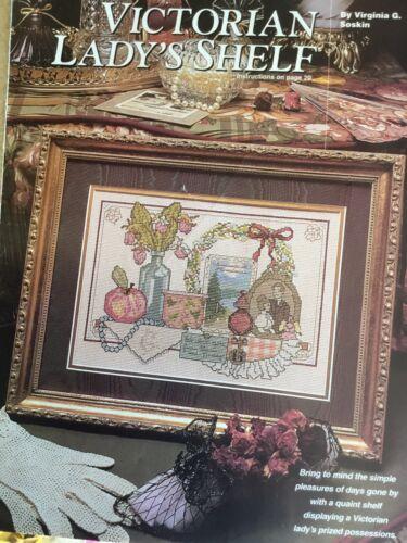 Counted Cross Stitch Pattern Victoran Lady s Shelf - $2.50