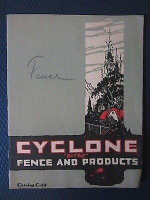 Cyclone Fence catalog Gates Farm Hardware Cemetery Arches Waukegan IL VTG