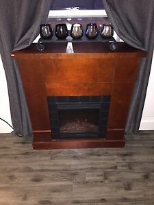 Electric fire place mantle