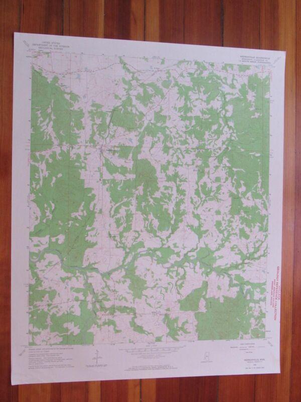 Hermanville Mississippi 1964 Original Vintage USGS Topo Map