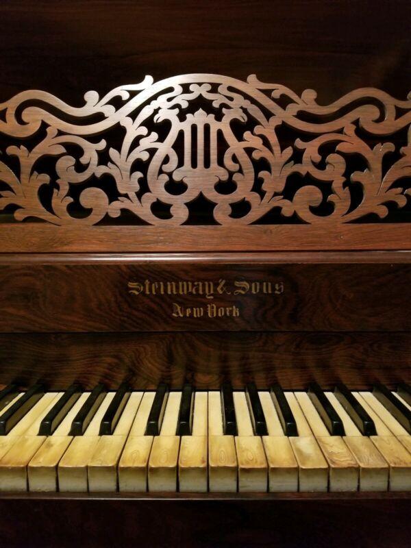 "Antique Steinway & Sons ""Rococo"" Square Grand Piano Model D"