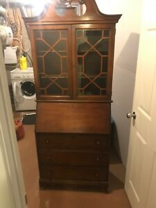 Antique cabinet and writing desk or hutch