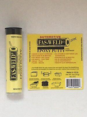 Fas Weld 515 Steel Epoxy Putty Reinforced Tube No Sag  No Drip  No Waste