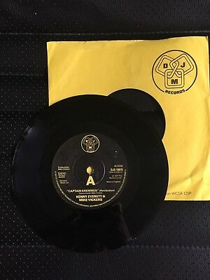 "CAPTAIN KREMMEN RETRIBUTION KENNY EVERETT & MIKE VICKERS  7"" VINYL DJM RECORDS"