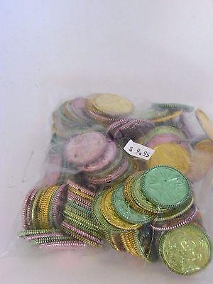 Plastic Metallic Coins Treasure Chest Pirate Costume Halloween Rubies