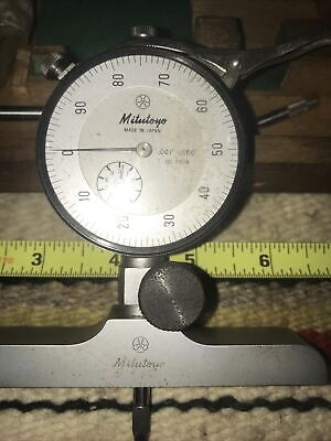 Mitutoyo No. 7218 Dial Depth Gage With No. 2904 Dial Indicator