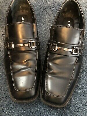 Alfani Black Dress Shoes Loafers Mens Size 9 1/2 With Buckel