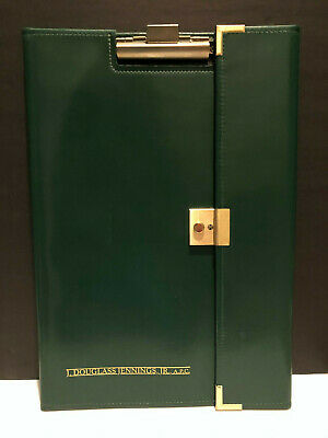 Hazel Green Faux Leather Legal Writing Note Pad Portfolio With Clipboard