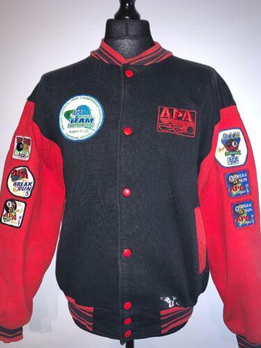 APA Pool League Championships Jacket With x7 League Team Badges Patches L RARE