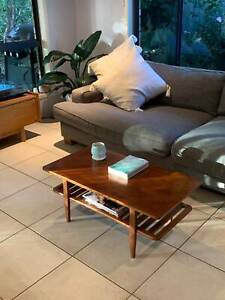 Mid Century Style Coffee Table with Magazine Rack.
