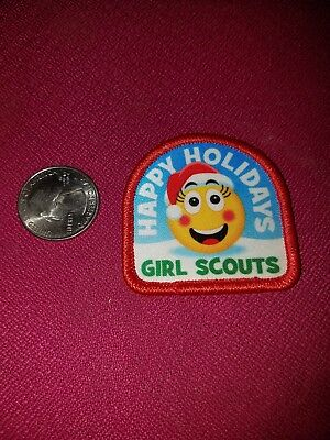 New Girl Scout Emogi Happy Holidays Santa Hat Smiley Face Red Arch Multiples (Happy Holidays Arch)