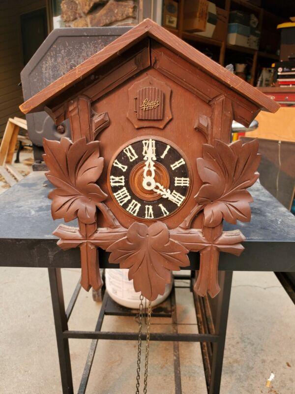 Vintage Schatz Cuckoo Clock Germany 8 Day. !Works!
