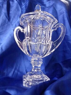 NEU 1 Tiffany&Co Glaspokal mit Henkel und Deckel  (Wander-Pokal Ehrung Pokal )