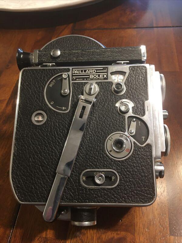 PAILLARD BOLEX 16mm Film Movie Camera Motor Runs As Is