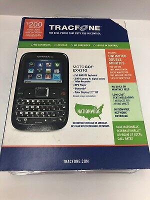 Telcel America Motorola PrePaid Cell Phone Motogo! EX431G - Black New Sealed