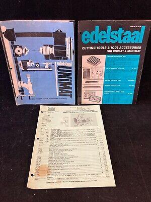 Unimat Edelstaal Book Lotcatalog Ua69ct70 Plminiature Machining Techniques