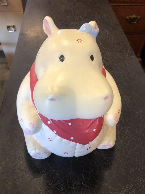 Vintage Hippo Hippopotamus Cookie Jar