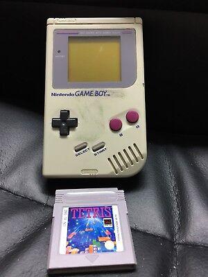 Nintendo Game Boy Weiß Handheld-Spielkonsole mit Tetris Spiel Classic 1989 Top (Tetris-spiel Handheld)