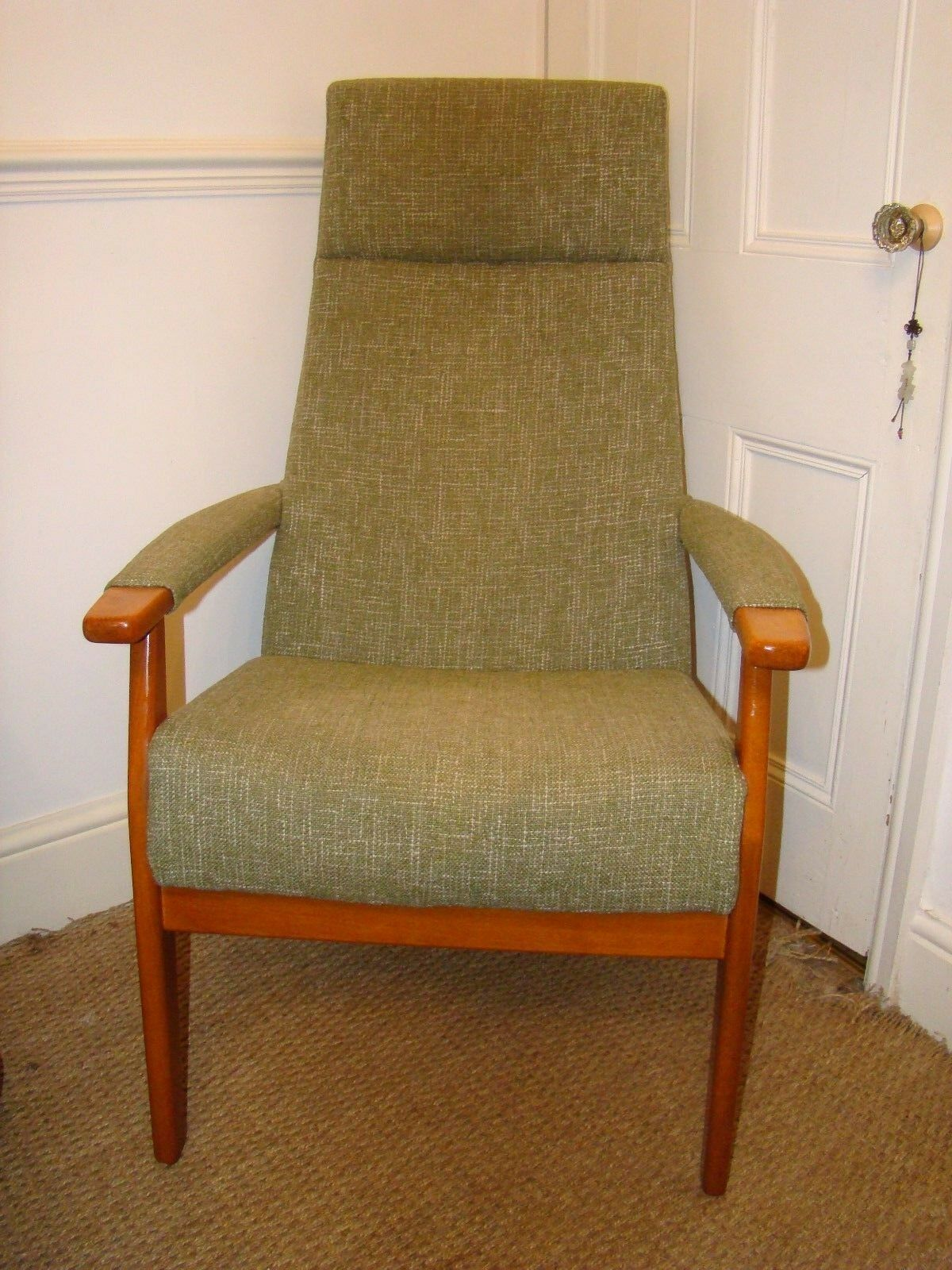 Vintage Retro Original Parker Knoll Armchair Easychair Lounge Chair Sage Green