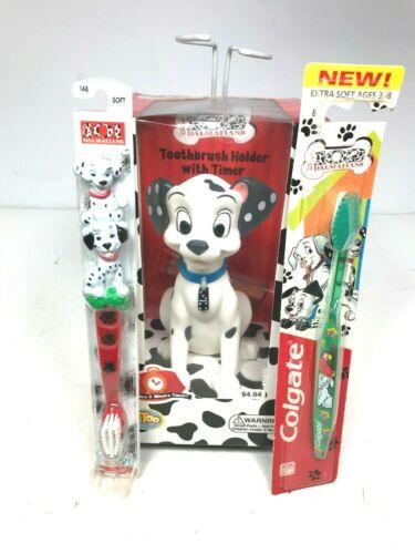 Disney 101 Dalmatians Toothbrush Holder / Toothbrush Lot New