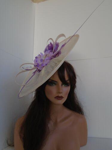 lavender Kentucky derby big large ascot formal dress fancy sinamay easter church