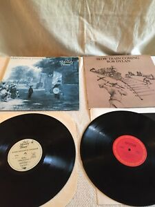 Moody blues and bob Dylan vinyl record LPs